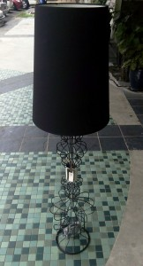 LTG0021 FLOOR LAMP FABRIC IRON