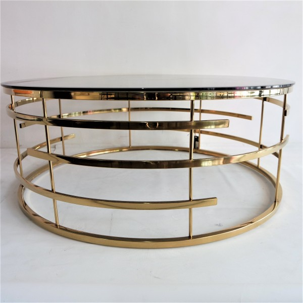 GOLD ROUND COFFEE TABLE- FRM3061-GD2