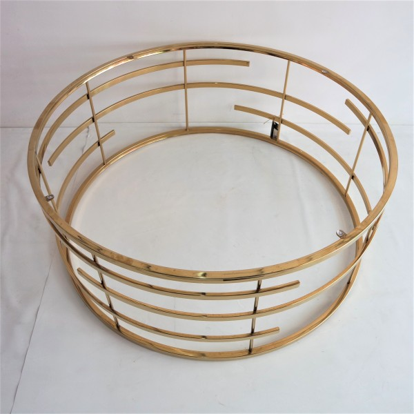 GOLD ROUND COFFEE TABLE- FRM3061-GD3