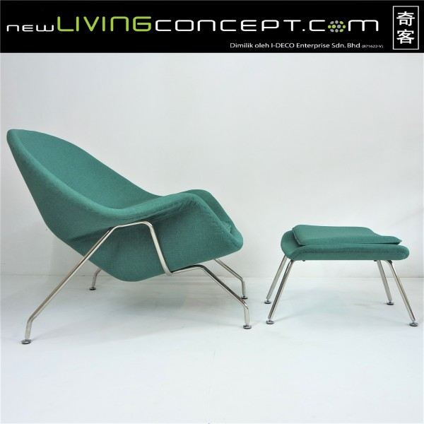 WOMB CHAIR WITH OTTOMAN - FRM71491