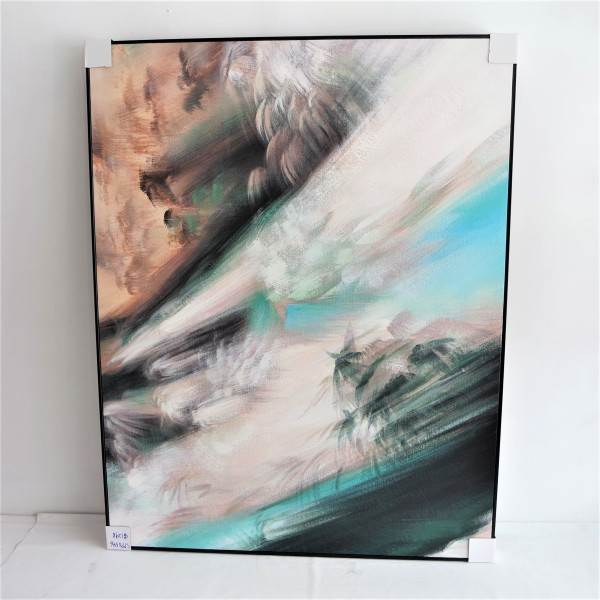 ABSTRACT OIL PAINTING WITH FRAME - SPP03466