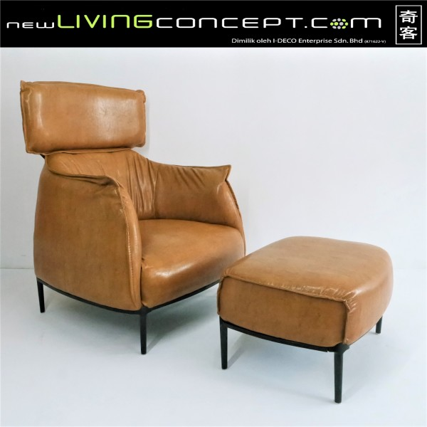 ARCHIBALD KING ARM CHAIR WITH OTTOMAN - FRM71451