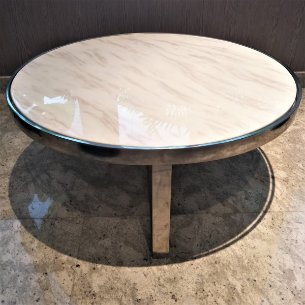 MARBLE ROUND COFFEE TABLE - FRM30782