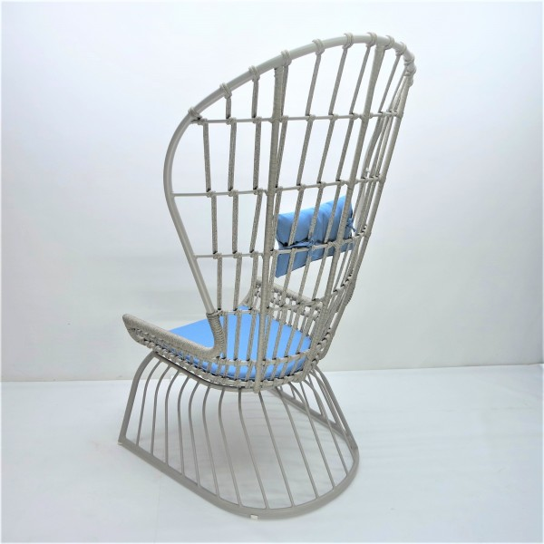 OUTDOOR HIGH BACK LOUNGE CHAIR - FRM80385