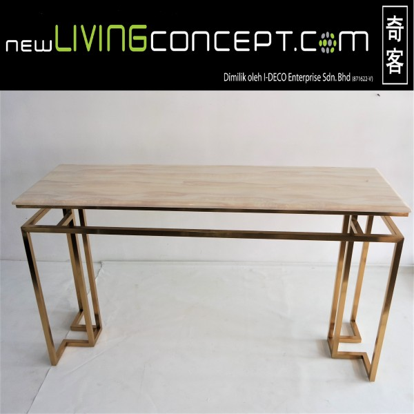MARBLE TOP CONSOLE TABLE - FRM5144-GD1