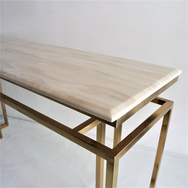 MARBLE TOP CONSOLE TABLE - FRM5144-GD4