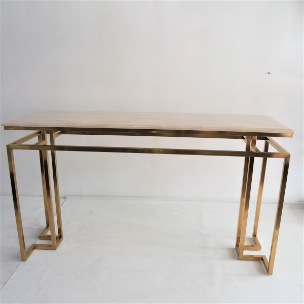 MARBLE TOP CONSOLE TABLE - FRM5144-GD5