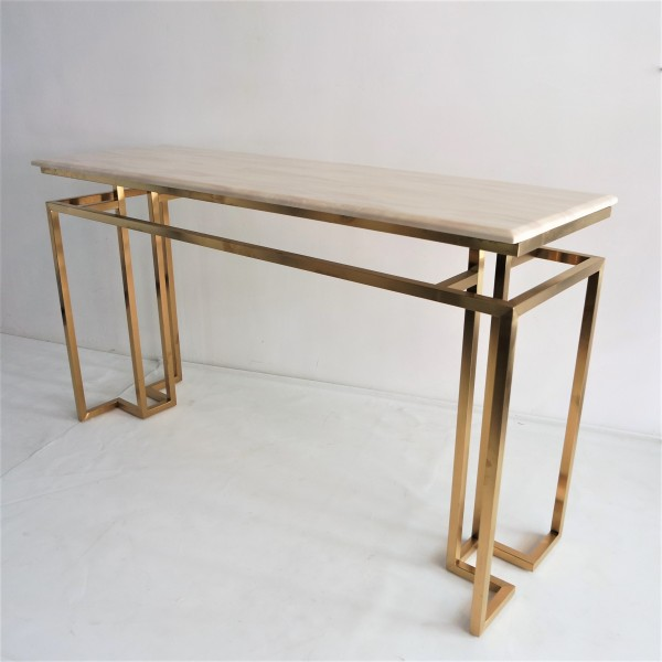 MARBLE TOP CONSOLE TABLE - FRM5144-GD3