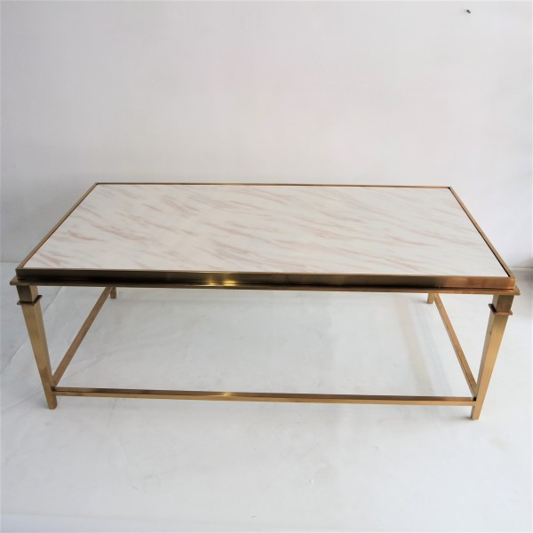 RECTANGLE MARBLE COFFEE TABLE - FRM3081-GD2