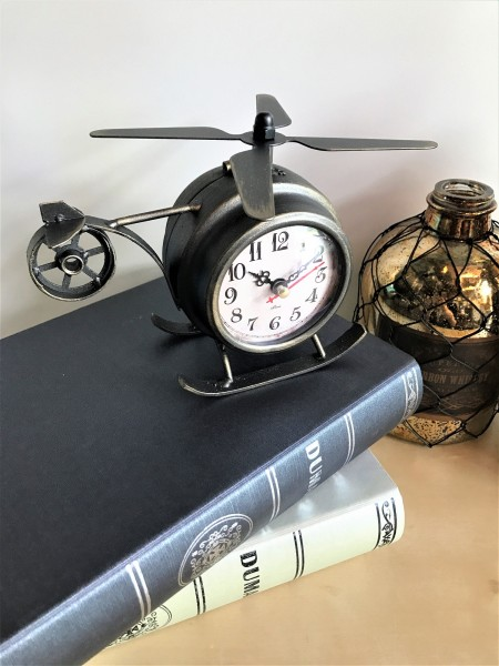 HELICOPTER TABLE CLOCK - DCC20085