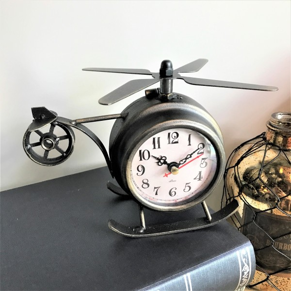 HELICOPTER TABLE CLOCK - DCC20086
