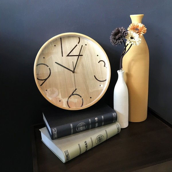 ROUND WOOD WALL CLOCK - DCC10961