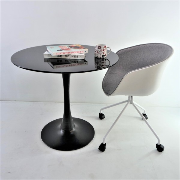 ROUND GLASS DINING TABLE - FRM51473