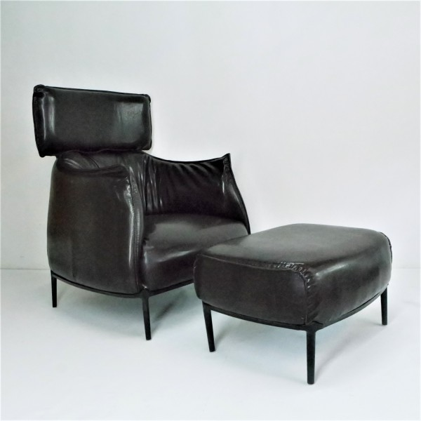 ARCHIBALD KING ARM CHAIR WITH OTTOMAN - FRM71452