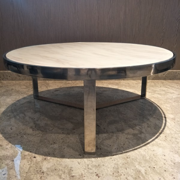 MARBLE ROUND COFFEE TABLE - FRM30786