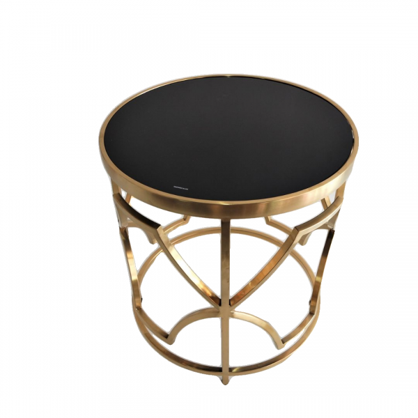 ROUND GOLD FRAME SIDE TABLE - FRM2100-GD1