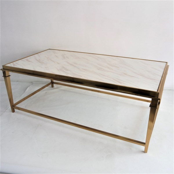 RECTANGLE MARBLE COFFEE TABLE - FRM3081-GD3