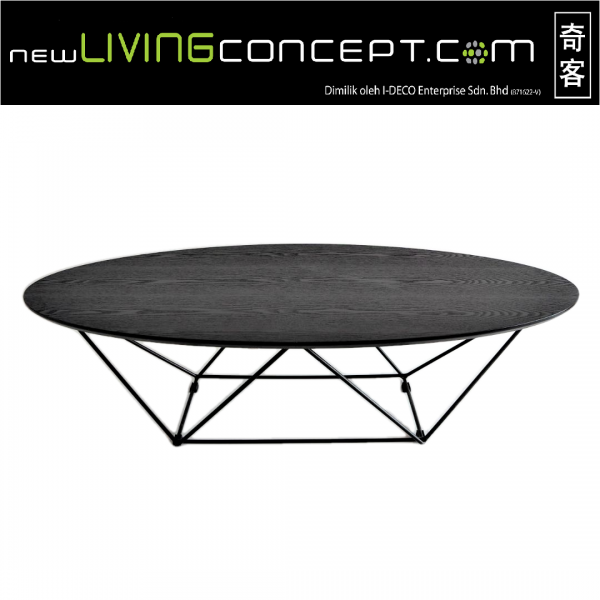 OVAL COFFEE TABLE - FRM3077-B1