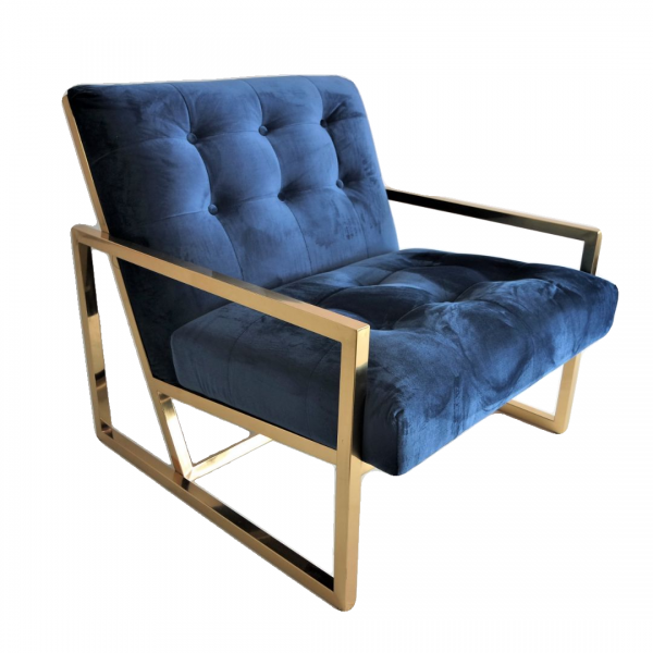 GOLD FRAME LOUNGE CHAIR- FRM71831