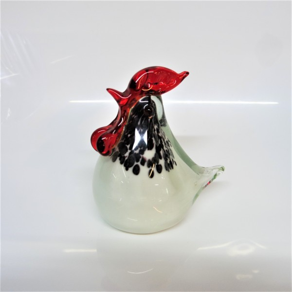 CHICKEN GLASS SCULPTURE (PAIRS) - SPS80014