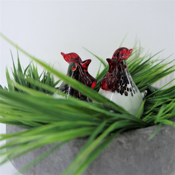 CHICKEN GLASS SCULPTURE (PAIRS) - SPS80016