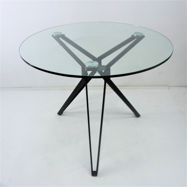 ROUND TEMPERED GLASS DINING TABLE SET : RM 999 ONLY4