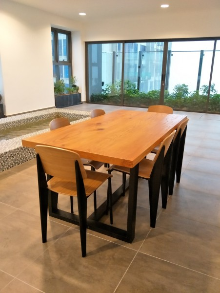 SOLID PINE WOOD 8+1 DINING SET : RM 4388 ONLY1