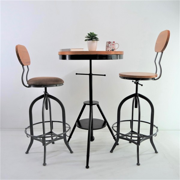 SOLID PINE WOOD BAR CHAIR SET : RM 1198 ONLY1