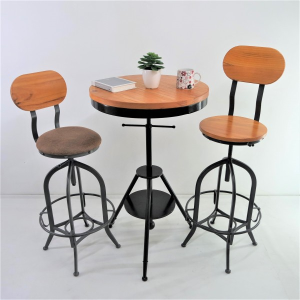 SOLID PINE WOOD BAR CHAIR SET : RM 1198 ONLY2