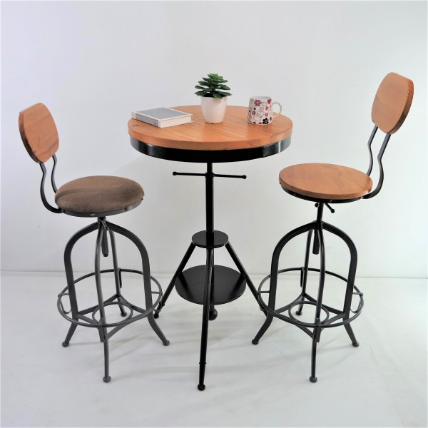 SOLID PINE WOOD BAR CHAIR SET : RM 1198 ONLY3