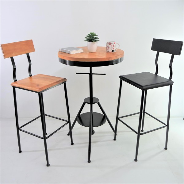 SOLID PINE WOOD BAR CHAIR SET : RM988 ONLY1