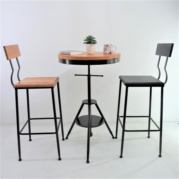 SOLID PINE WOOD BAR CHAIR SET : RM988 ONLY2
