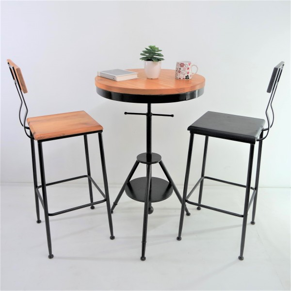 SOLID PINE WOOD BAR CHAIR SET : RM988 ONLY3