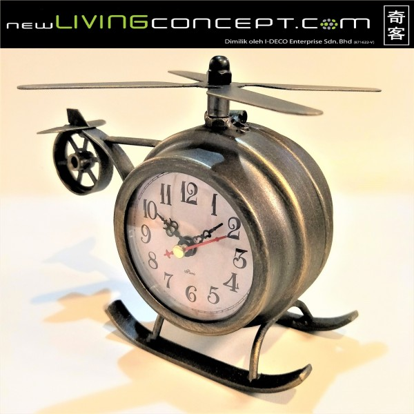 HELICOPTER TABLE CLOCK - DCC20081