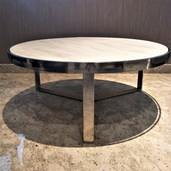 MARBLE ROUND COFFEE TABLE - FRM30781