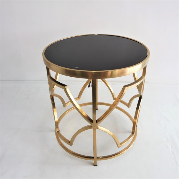 ROUND GOLD FRAME SIDE TABLE - FRM2100-GD4