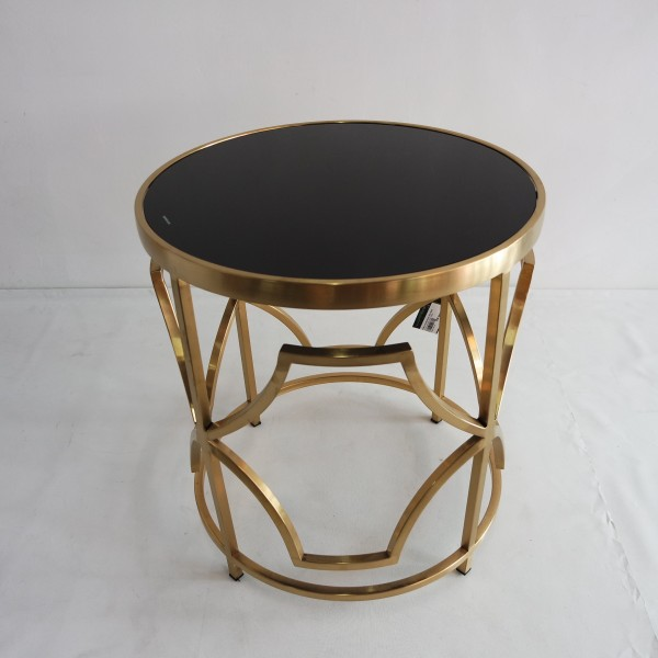ROUND GOLD FRAME SIDE TABLE - FRM2100-GD5
