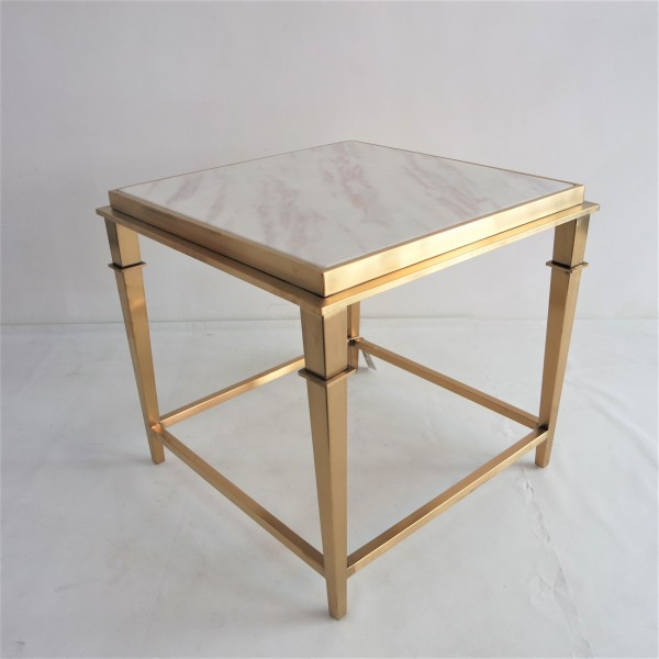 SQUARE MARBLE SIDE TABLE - FRM2099-GD3