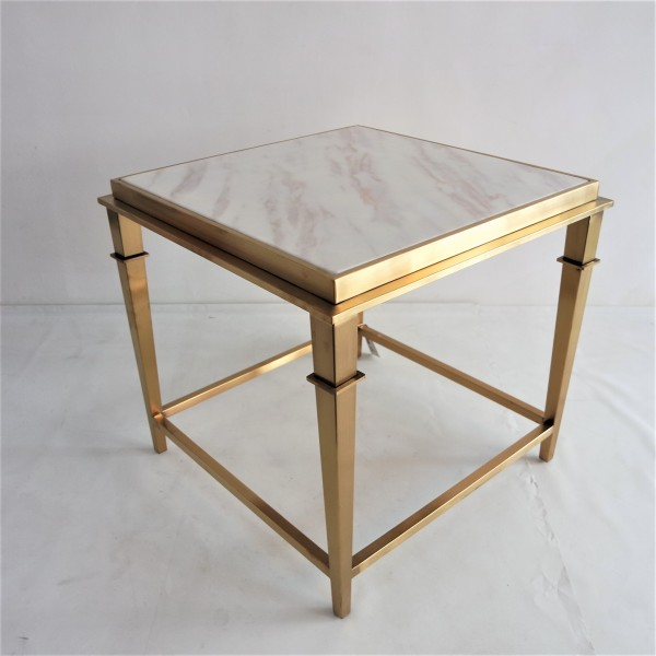 SQUARE MARBLE SIDE TABLE - FRM2099-GD6