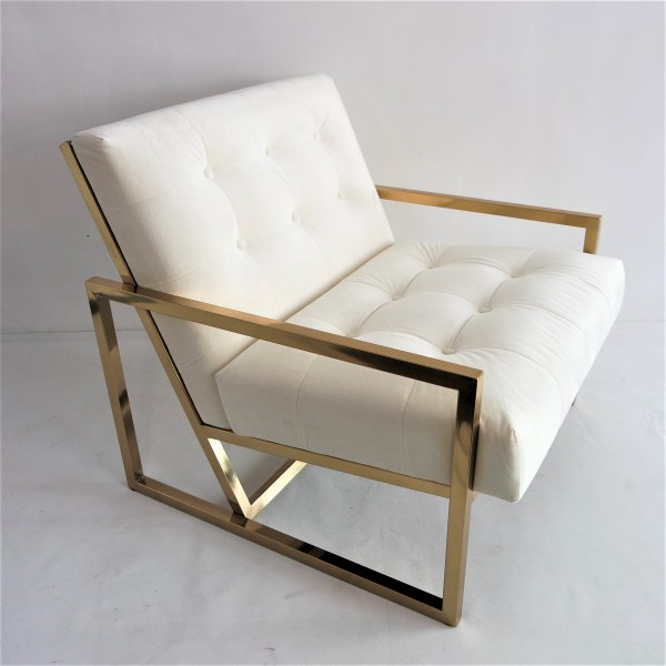 GOLD FRAME LOUNGE CHAIR- FRM71836