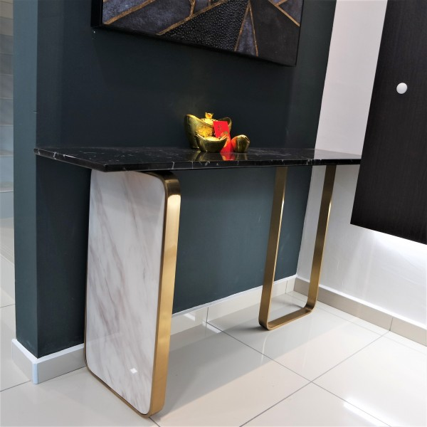 RECTANGLE MARBLE CONSOLE TABLE - FRM51601