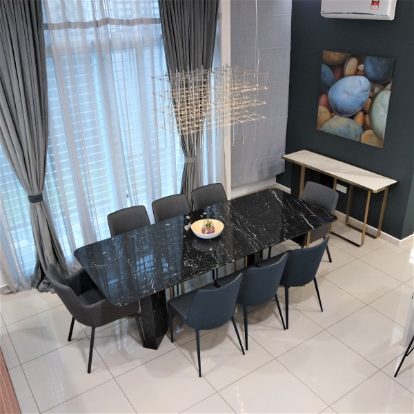 ROOD MARBLE DINING TABLE - FRM51564